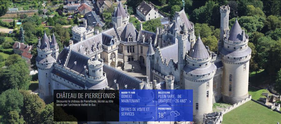 Vue aérienne du château de Pierrefonds