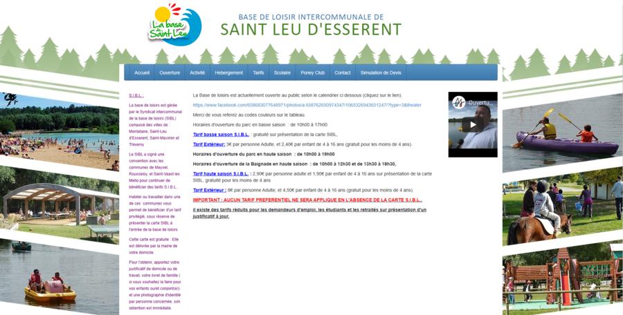 Base de loisirs de Saint Leu d'Esserent