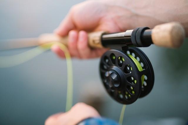 Moulinet de canne à pêche