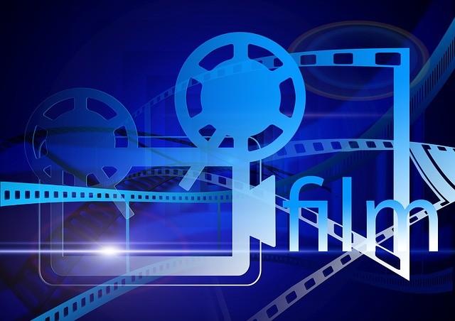Dessin représentant un projecteur et la pellicule d'une film