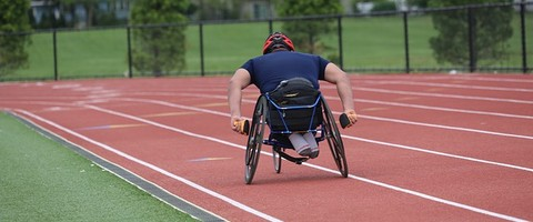 course en fauteuil