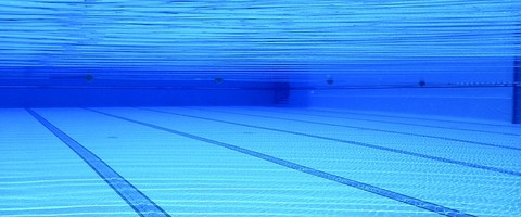 Fond du bassin d'une piscine