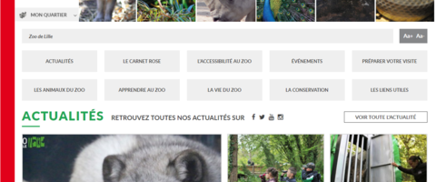 Site internet du zoo de Lille