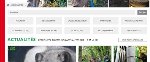 Site internet du zoo de Lille